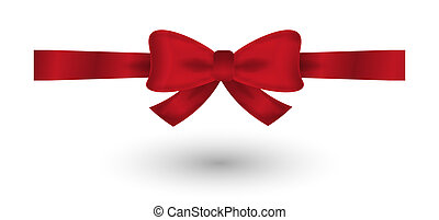 red elegant bow - red elegant gradient bow on white...