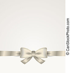 silver ribbon with bow
