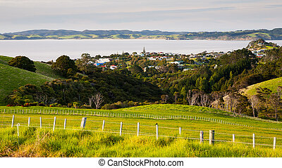 Leigh North Island New Zeland - View towards the town of...
