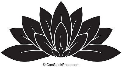 Lotus Set 022 - illustration of lotus silhouette