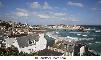 St Ives Cornwall England view - St Ives Cornwall England...
