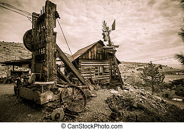Jerome Arizona windmill - Jerome Arizona Ghost Town mine...