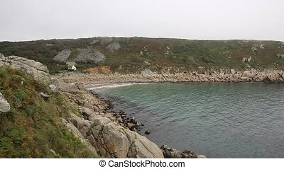 Lamorna Cove Cornwall England UK - Lamorna beach and cove...