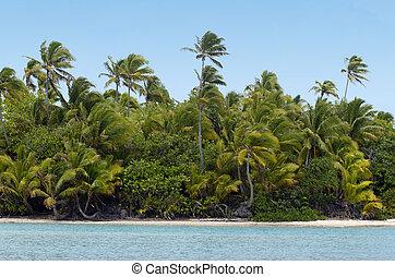 Aitutaki Lagoon Cook Islands - Landscape of tropical island...