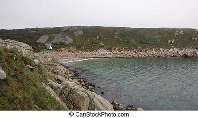 Lamorna beach and cove Cornwall uk - Lamorna beach and cove...
