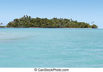 Aitutaki Lagoon Cook Islands - Landscape of tropical island...