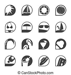 Simple Summer and Holiday Icons