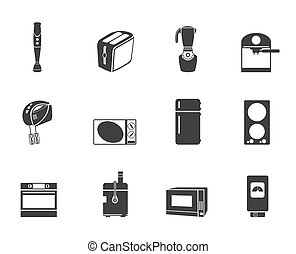 Silhouette Kitchen and home icons
