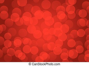 Background of red blurred lights - Vector background of red...