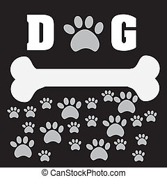 pet design - pet desig over black background vector...