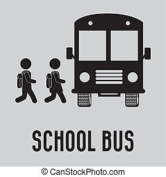school bus - school design over gray background vector...