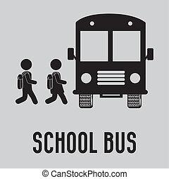 school bus - school design over gray background vector...