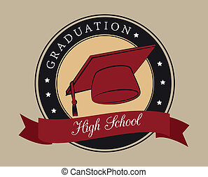 graduation design - graduation design over beige background...