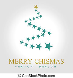 christmas design over gray background vector illustration