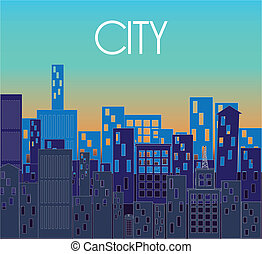 city design over blue background vector illustration
