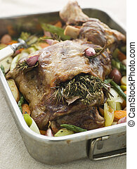 Slow Roasted Shoulder of Lamb Stuffed with Herbs de Provence...