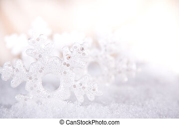 Snow flake, close-up