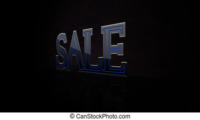 Animated abstract Sale, dynamic digital background, HD...