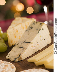 Cheese Board Crackers and Grapes