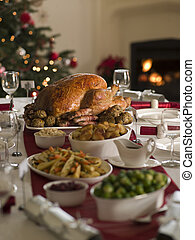 Roast Turkey Christmas Spread