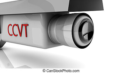 3d security camera - 3d white security camera on white...