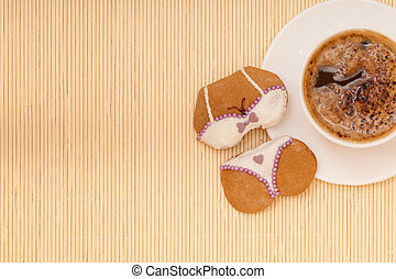 Coffee bikini underwear gingerbread - White cup of coffee...