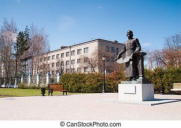 Tobolsk, Monument of Remezov SU - Monument Remezov SU in...