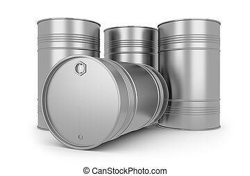 Steel silver oil barrels - Steel silver oil barrels