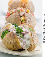 Baked Potatoes with a Selection of Toppings
