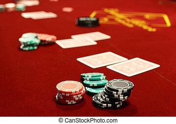 dark interior of european casino - luxury and stylish...