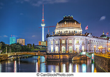 Berlin Scene - Berlin, Germany view of Museum Island and...