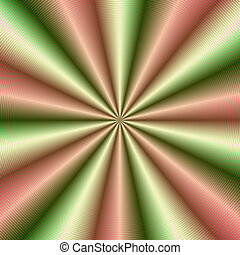 Pink and Green Ribbed Pleat - Digital abstract fractal image...
