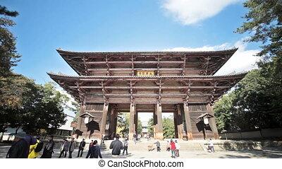 NARA, JAPAN - Nov 21: The Great Buddha Hall at Todai-ji Nov...