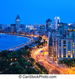 beautiful shanghai bund closeup - beautiful shanghai bund...
