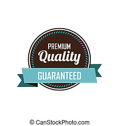 Premium label - abstract premium quality label on a white...
