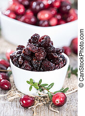 Sun dried Cranberries - Portion of sun dried Cranberries