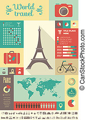 Travel Infographic Template. - Flat Infographic Elements...