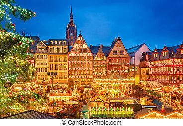 Natal, mercado, frankfurt