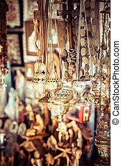 Shop with religion souvenir at the old city of Jerusalem
