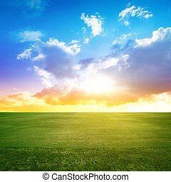 Clear beauty landscape Summer background
