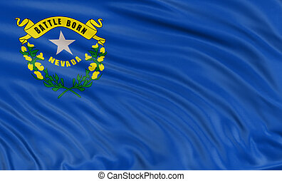 3D Nevada Flag - Rendering of flag of the US state of Nevada...