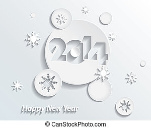 Happy new year 2014 creative greeting card design