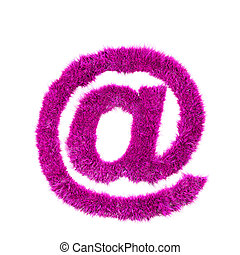 Pink grass arobas sign