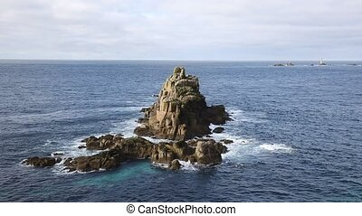 View of rocks at Lands End Cornwall - View of rocks from...