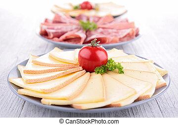 raclette, Carnes