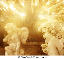 Little angels - Fantastical portrait of angelic cherub...