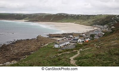Lands End from Sennen Cove Cornwall - Lands End coast from...