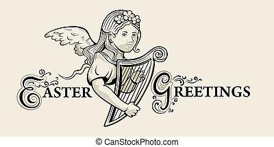 Retro Easter greeting