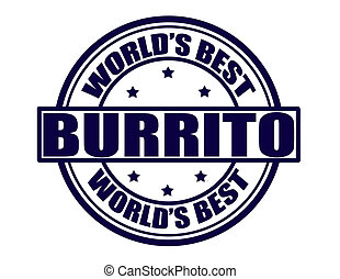 Best burrito - Stamp with text best burrito inside, vector...