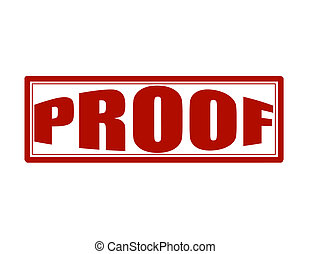 Proof - Stamp with word proof inside, vector illustration